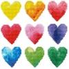 Diamond Dotz Regenbogen Herzen