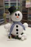 Leuchtender Schneemann mit Zylinder